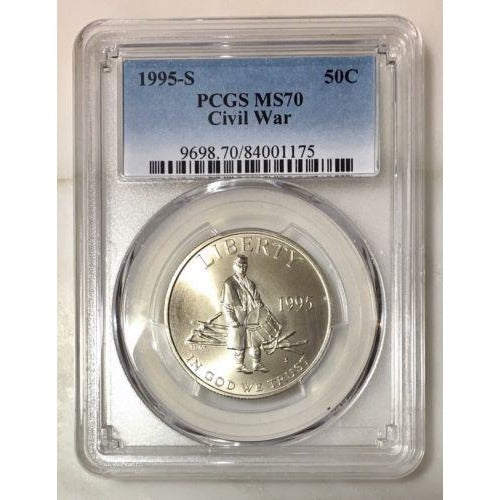 1995 S Civil War Half Dollar Pcgs Ms70 #117590 Coin