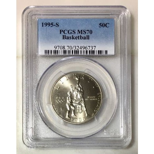 1995 S Basketball Half Dollar Pcgs Ms70 #673756 Coin