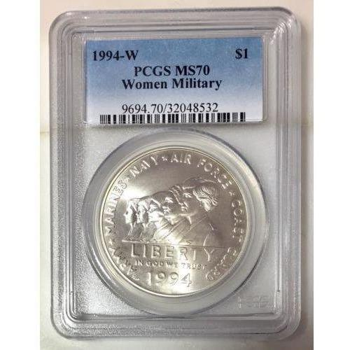 1994 W Women Military Pcgs Ms70 #853258 Coin