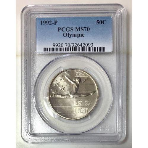 1992 Olympic Half Dollar Pcgs Ms70 #209339 Coin
