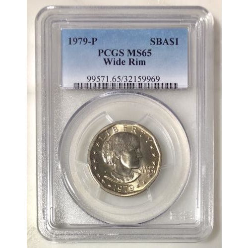 1979 P Wide Rim Susan B Anthony Dollar Pcgs Ms65 #996953 Coin