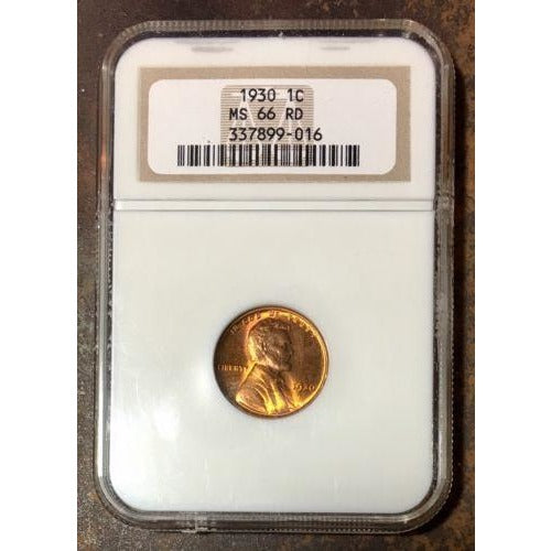 1930 Lincoln Cent Ngc Ms66 Rd *rev Tyes* #901672 Coin