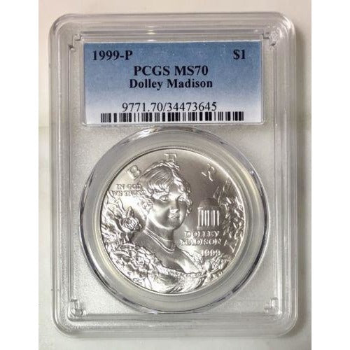1999 Dolley Madison Dollar Pcgs Ms70 #364559 Coin
