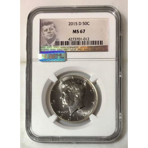 2015 D Kennedy Half Dollar Ngc Ms67 *rev Tyes* #101232 Coin