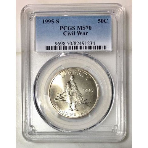 1995 S Civil War Commemorative Pcgs Ms70 #1234100 Coin