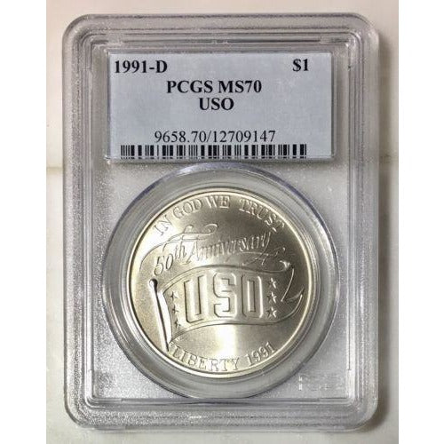 1991 D Uso Dollar Pcgs Ms70 #914772 Coin