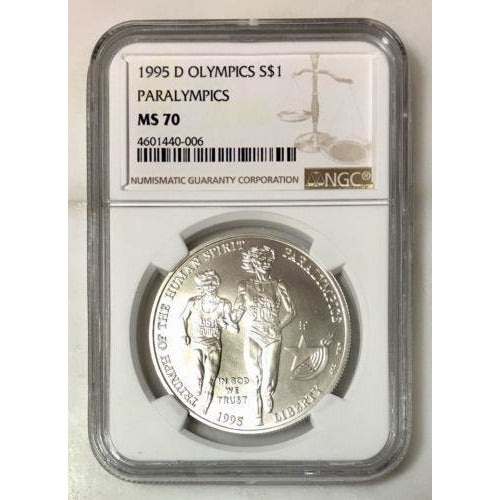 1995 D Olympics Dollar Ngc Ms70 #000670 Coin