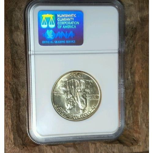 A 1935-D Boone Commemorative Silver Ngc Ms 66!! #2029 Coin