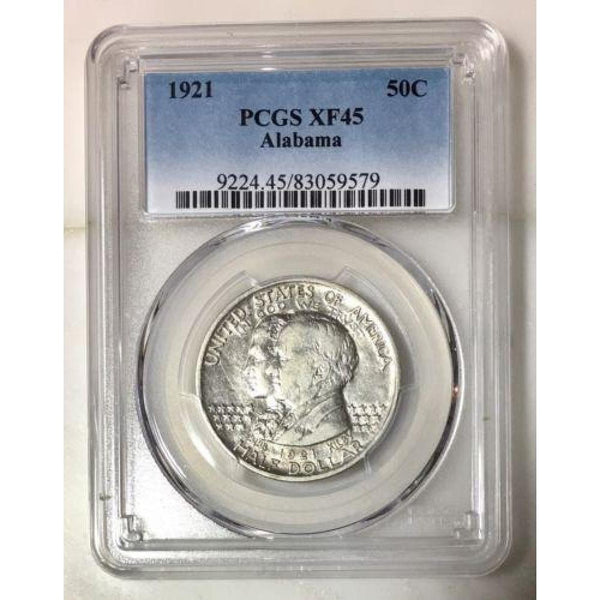 1921 Alabama Half Dollar Pcgs Xf45 *rev Tyes* #9579128 Coin