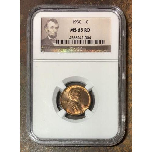 1930 Lincoln Cent Ngc Ms65 Rd *rev Tyes* #200442 Coin