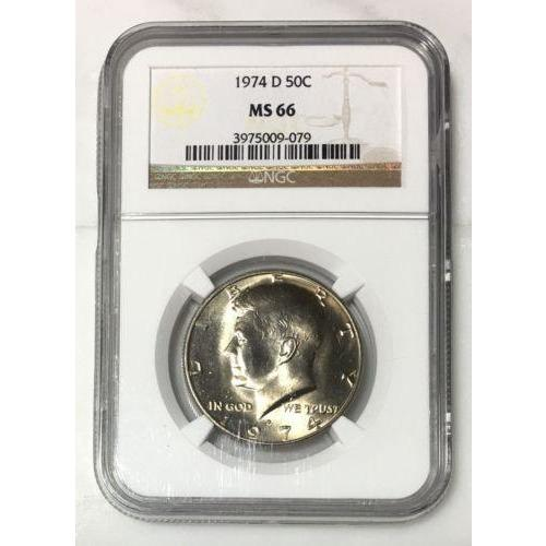 1974 D Kennedy Half Dollar Ngc Ms66 *rev Tyes* #907941 Coin