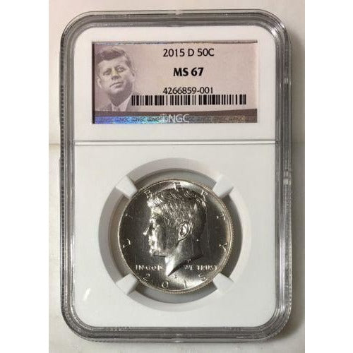 2015 D Kennedy Half Dollar Ngc Ms67 *rev Tyes* #9001 Coin