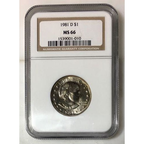 1981 D Susan B Anthony Dollar Ngc Ms66 #101015 Coin