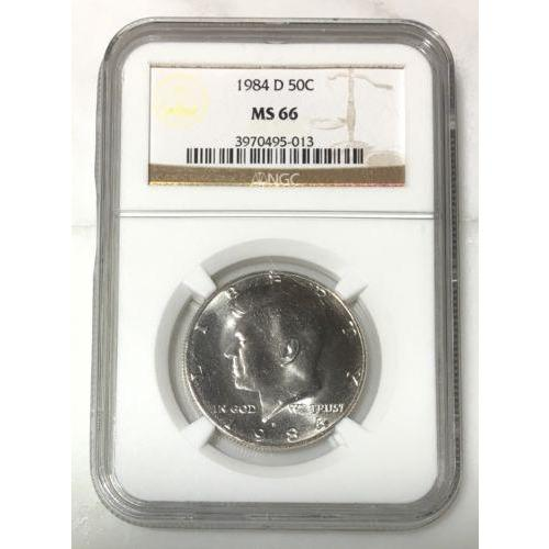 1984 D Kennedy Half Dollar Ngc Ms66 *rev Tyes* #501385 Coin