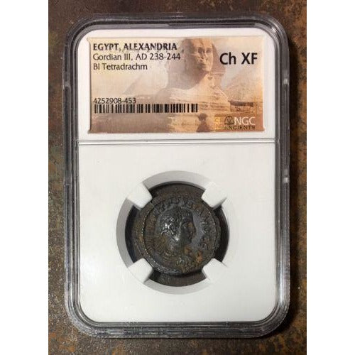 Egypt Alexandria Gordian Iii Ad 238-244 Ngc Ch Xf *rev Tyes* #8453200 Coin