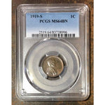 1919 S Lincoln Cent Pcgs Ms64Bn *rev Tyes* #8996189 Coin