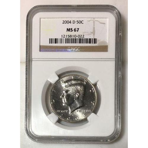 2004 D Kennedy Half Dollar Ngc Ms67 *rev Tyes* #002227 Coin