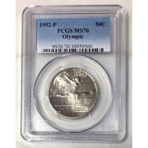 1992 Olympic Half Dollar Pcgs Ms70 #956039 Coin