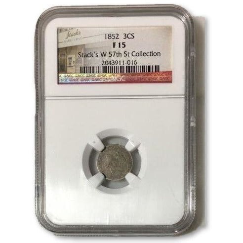 1852 Three Cent Silver Ngc F15 *rev Tyes* #101646 Coin