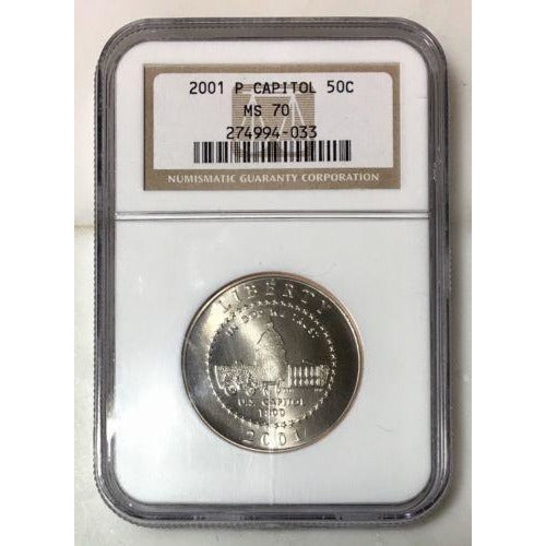 2001 P Capitol Commemorative Ngc Ms70 #403340 Coin