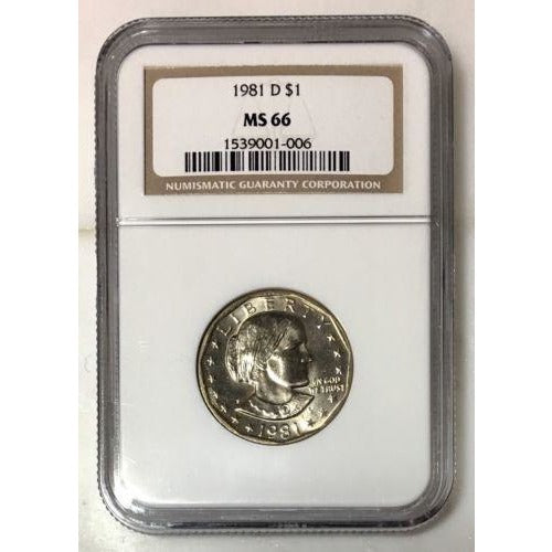 1981 D Susan B Anthony Dollar Ngc Ms66 #100615 Coin