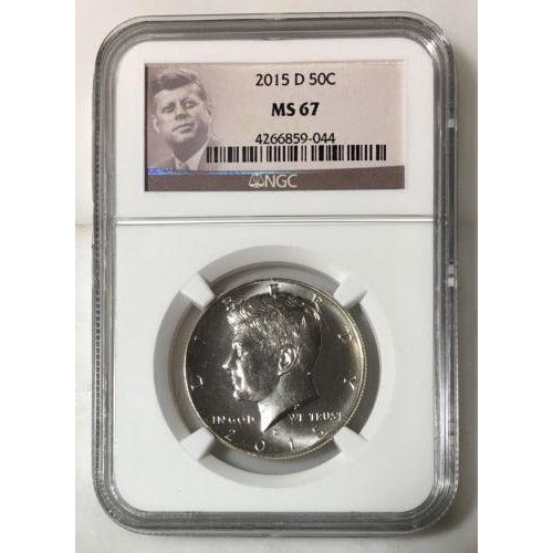2015 D Kennedy Half Dollar Ngc Ms67 *rev Tyes* #9044 Coin