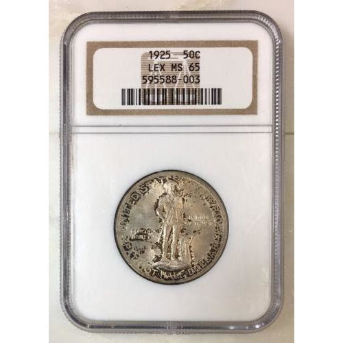 1925 Lexington Half Dollar Ngc Ms65 *rev Tyes* #8003200 Coin