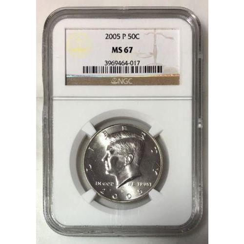 2005 Kennedy Half Dollar Ngc Ms67 *rev Tyes* #4017200 Coin