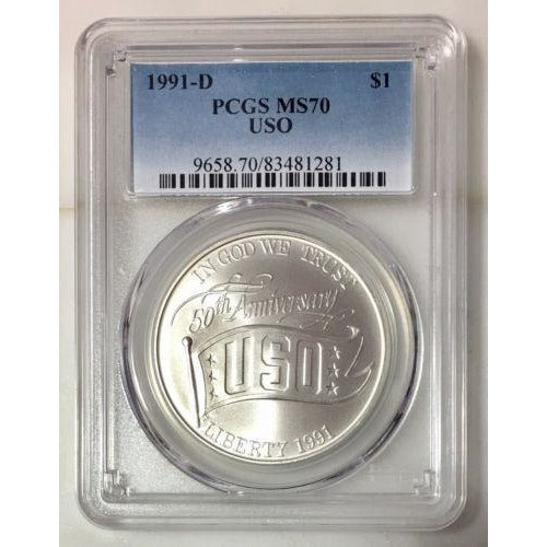 1991 D Uso Dollar Pcgs Ms70 #128170 Coin