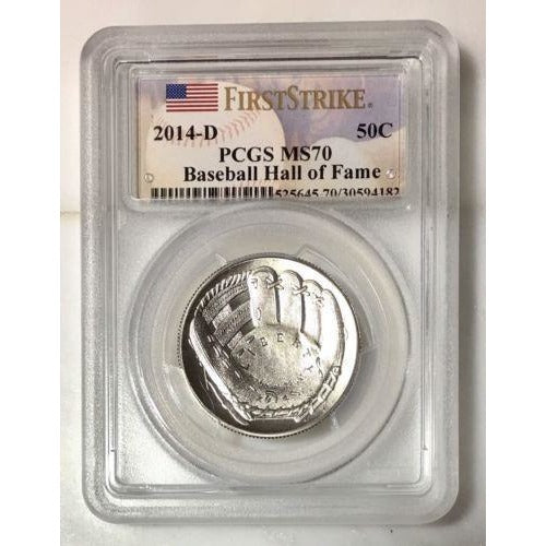 2014 D Baseball Hall Of Fame Half Dollar Pcgs Ms70 #418263 Coin