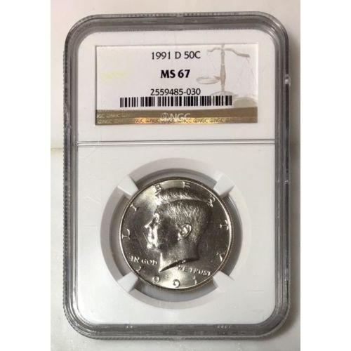 1991 D Kennedy Half Dollar Ngc Ms67 *rev Tyes* #5030280 Coin