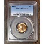 1930 Lincoln Cent Pcgs Ms65 Rd *rev Tyes* #810538 Coin