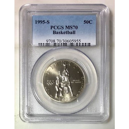 1995 S Basketball Half Ngc Ms70 #595554 Coin