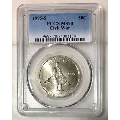1995 S Civil War Commemorative Pcgs Ms70 #117490 Coin