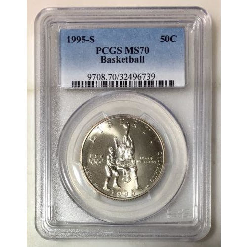 1995-S Basketball Half Dollar Pcgs Ms70 #673956 Coin