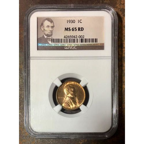 1930 Lincoln Cent Ngc Ms65 Rd *rev Tyes* #2002 Coin