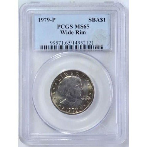 1979-P Susan B. Anthony Wide Rim Pcgs Ms65 #212164 Coin