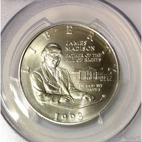1993-W Madison Commemorative Half PCGS MS70 #924145