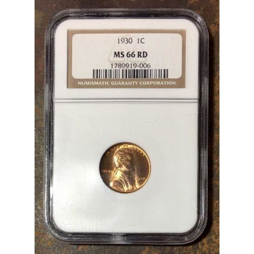 1930 Lincoln Cent Ngc Ms66 Rd *rev Tyes* #900675 Coin
