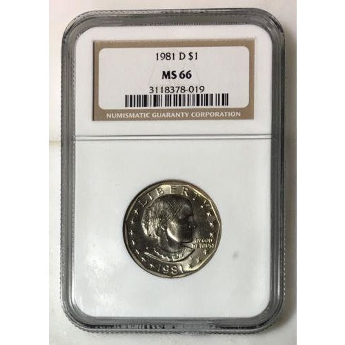 1981 D Susan B Anthony Dollar Ngc Ms66 #801915 Coin