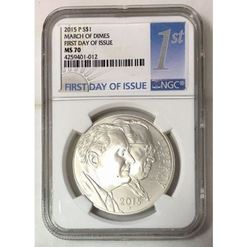 2015 P March Of Dimes Dollar Ngc Ms70 #101256 Coin