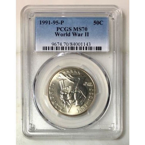 1991-95 World War Ii Half Pcgs Ms70 * #114375 Coin