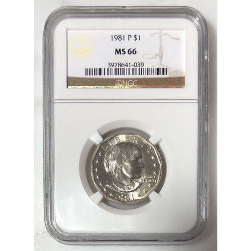 1981 Susan B Anthony Dollar Ngc Ms66 #103935 Coin