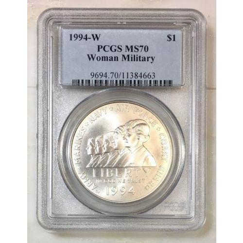 1994 W Woman Military Dollar Pcgs Ms70 #466352 Coin