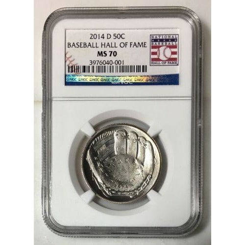 2014 D Baseball Hall Of Fame Half Dollar Ngc Ms70 #000152 Coin