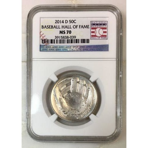 2014 D Baseball Hall Of Fame Half Dollar Ngc Ms70 #803963 Coin