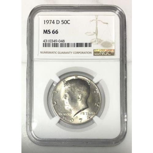 1974 D Kennedy Half Dollar Ngc Ms66 *rev Tyes* #904853 Coin