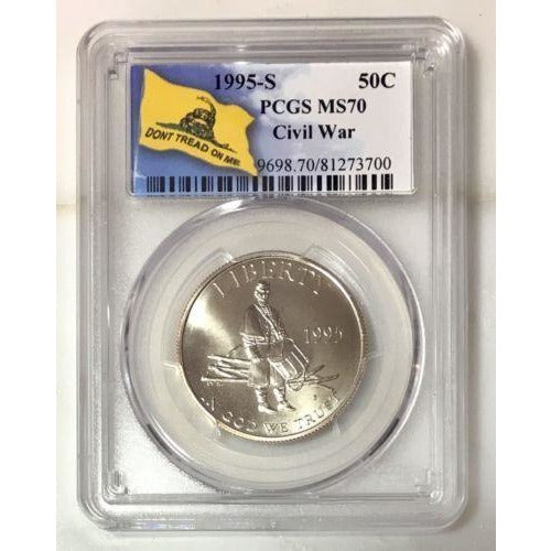 1995 S Civil War Half Dollar Pcgs Ms70 #3700100 Coin