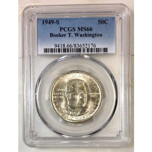 1949 S Booker T Washington Half Pcgs Ms66 *rev Tyes* #2176134 Coin
