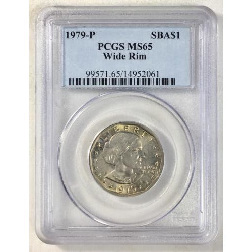 1979-P Susan B. Anthony Quarter Pcgs Ms65 Wide Rim #206164 Coin